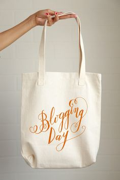 Blogging Day Tote Bag