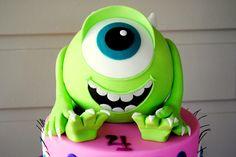 Monsters Inc - Monsters University Cake - Monsters Inc - Mike Wazowski Cake