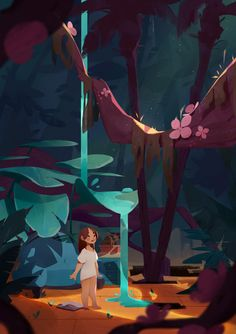 Pin by camila sánchez on Inspiration Board For illustration Art And Illustration, Illustrations, Fantasy Kunst, Animation, Environment Concept Art, Visual Development, Environmental Art, Art Inspo, Game Art