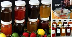 8 fruit and herb honey syrups you can make at home and have to add flavor to your water or tea, smoothies or other things you would like to add a fruity Smoothie Recipes With Yogurt, Yogurt Smoothies, Healthy Breakfast Smoothies, Easy Smoothies, Making Smoothies, Protein Smoothies, Healthy Drinks, Carbonated Soft Drinks, Honey
