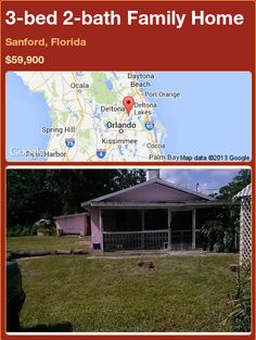3-bed 2-bath Family Home in Sanford, Florida ►$59,900 #PropertyForSale #RealEstate #Florida http://florida-magic.com/properties/90383-family-home-for-sale-in-sanford-florida-with-3-bedroom-2-bathroom