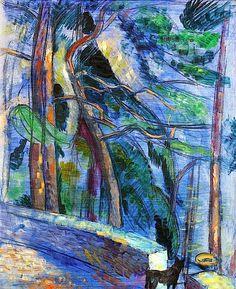 Saltsjöbaden by Isaac Grunewald (Sweden) Henri Matisse, Abstract Landscape, Landscape Paintings, Art Images, Art Pictures, Georges Braque, Scandinavian Art, Modern Artists, Impressionist
