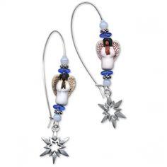 Snowflake Angel Earrings | FaveCrafts.com
