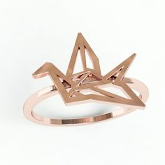 Origami Swan Ring - Digible