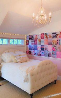 Cute Bedroom Decor, Bedroom Decor For Teen Girls, Cute Bedroom Ideas, Girl Bedroom Designs, Room Ideas Bedroom, Teen Room Decor, Stylish Bedroom, Bedroom Inspo, Ikea Bedroom