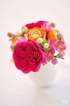 Fuchsia Pink Heirloom Roses Pink Cherry by dkdesignshawaii on Etsy, $45.00