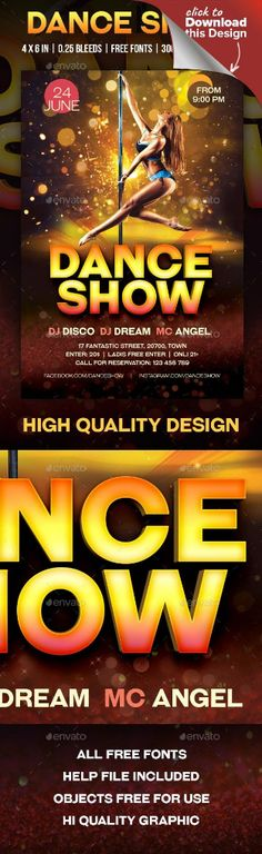 beauty, dancer, dancing, dj, elegant, event, flyer, girl, gold, night club, night life, pole dance, poster, print, sexy, strip, strip bar, striper, woman Dance Show Flyer. Size: Flyer (4×6) with 0.25 bleed, 300 DPI. Mode: CMYK #Beauty #dancecouplepictures #Dancer #Dancing #dancingcoupledrawingromantic #dancingcouplephotographyblackandwhite Pole Dance, Shakira Belly Dance, Little Girl Quotes, Little Girl Dancing, Dancing Couple, Dancing Drawings, Poster Fonts, Pole Dancing Fitness, Font Names