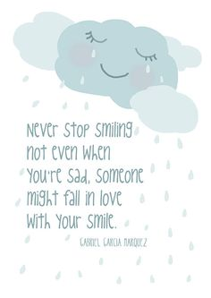 Never stop smiling  ... Gabriel Garcia Marquez by Gayana on Etsy, $15.00