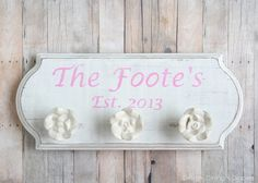 DIY Wedding Gift Idea: Creating a Custom Family Sign by designdininganddiapers.com  It's even spelled right too! Lol love it!