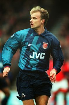 3f88bd771 By Ollie Irish February Dennis Bergkamp playing in Arsenal s away kit Now