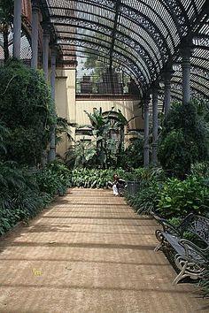 el Umbracle Parc de la Ciutadella. Barcelona