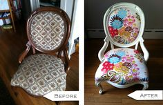 5 DIY Chair Makeovers Before & After