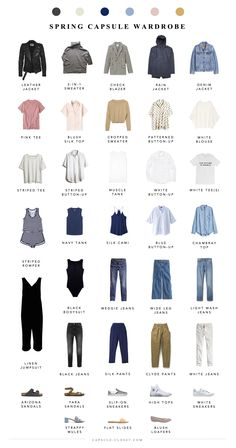 Spring 2018 Capsule Wardrobe – CAPSULE CLOSET This capsule came together so fast. Spring is my favorite season, and optimism always seems to come naturally to me at this time of year French Capsule Wardrobe, Wardrobe Sets, Wardrobe Basics, Capsule Wardrobe 2018, Capsule Wardrobe How To Build A, Closet Basics, Professional Wardrobe, Work Wardrobe, Capsule Outfits