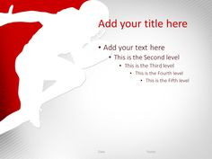 47 best sport powerpoint templates images on pinterest sports football powerpoint template red toneelgroepblik Images