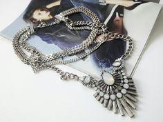 Necklace, statement necklace, bohemian necklace, www.ninojewelry.hu