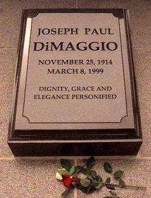 Grave Marker- Joe DiMaggio