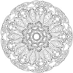 Mandala на доске printable mandalas to color - free Detailed Coloring Pages, Easy Coloring Pages, Mandala Coloring Pages, Coloring Books, Mandala Pattern, Mandala Design, Mandala Art, Mandalas Painting, Mandalas Drawing