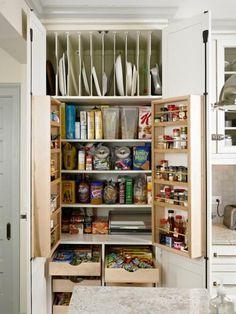 Full Size of Kitchen Storage Kitchen Shelves For Dishes Tiny Kitchen Organization Small Kitchen Wall Storage. Small Kitchen Storage, Small Pantry, Kitchen Storage Solutions, Pantry Storage, Kitchen Drawers, Kitchen Redo, Kitchen Organization, New Kitchen, Kitchen Remodel