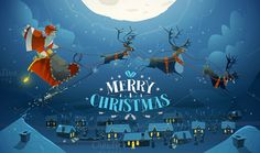 2 Christmas Illustrations with Santa by drumcheg on Creative Market