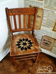 Knick of Time: A Quilt Inspired Wooden Chair and a Childhood Story