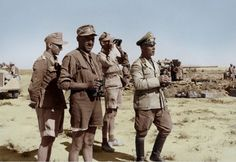 German Field Marshal Erwin Rommel observing the field near El Alamein, Egypt, 18 Jun 1942.