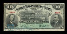 Canada, Provincial Bank of Canada, 10 dollars : June 1, 1907