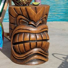 Design Toscano The Grand Tiki Teeth Sculptural Side Table: Patio Furniture : Walmart.com