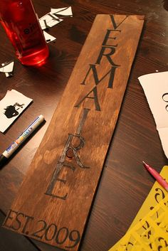 Create a sign for your family surname! Love it!