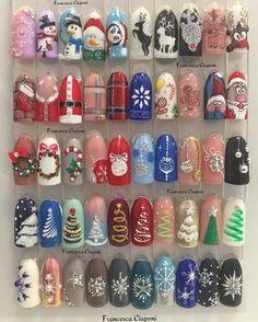 """327 mentions J'aime, 3 commentaires - ➡Effe Nails © (@effenails) sur Instagram : """"Prepariamo al meglio per il Natale! ❄️☃️ #nails #nailart#naildesgin #christmas #natale…"""""""