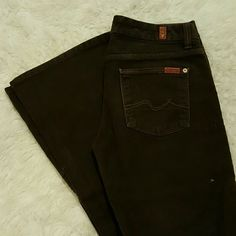 7 For All Mankind brown corduroy jeans Gently worn. Authentic 7 for all Mankind Jeans Flare & Wide Leg