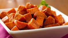 Looking for a delicious side dish? Then check out this baked sweet potato recipe with a flavorful twist!