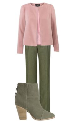 Groen met roze by justbeautiful on Polyvore featuring mode, M&S, rag & bone, women's clothing, women's fashion, women, female, woman, misses and juniors