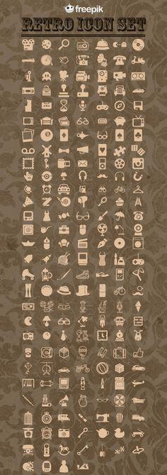 Free Retro Icons Pack