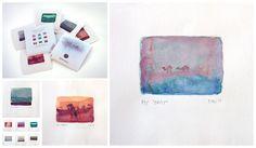 """Últimas tendencias en #grabado artístico. """"Serie Oasis"""" © Yolanda Martinez Impresas en papel de acuarela Hahnemühle William Turner 310 #giclee #artedigital #arte"""