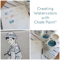 Creating watercolors with Chalk Paint® decorative paint by Annie Sloan | By Finding Silver Pennies