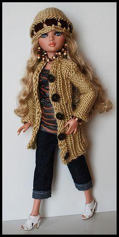Diy Barbie Clothes, Barbie Clothes Patterns, Clothing Patterns, Doll Clothes, Barbie Knitting Patterns, Knit Patterns, Crochet Doll Dress, Crochet Clothes, Barbie Kids