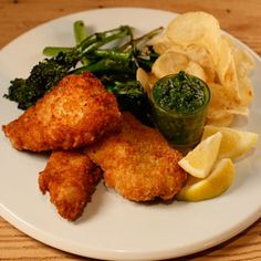 Crispy Fish Sticks with Parm Cheese and Parsley Caper Sauce Recipe   Rachael Ray Show