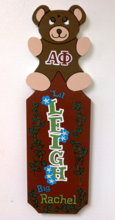 Alpha Phi Paddle by Melissa's Custom Gifts