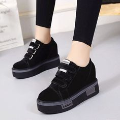 ab3bc03b16e9 Korean Thick Bottom Flat Heel Casual Shoes Student Sport Sneakers Women s  Shoes