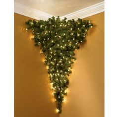 Upside Down/Corner Christmas Tree | Community Post: 20 Alternative Christmas Tree Ideas