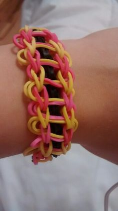 Ladder bracelet ( but to me it makes the colors yellow and pink make me want lemonade ;-) )