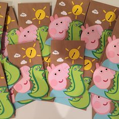 Peppa pig party, Peppa pig party decorations, George party bags, george from peppa pig party. Need to complete your party? Check out more decor at my etsy store: https://www.etsy.com/listing/221786888/peppa-pig-party-decoration-peppa-pig?ref=shop_home_active_9