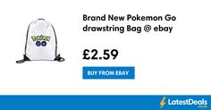 Brand New Pokemon Go drawstring Bag @ ebay, £2.59 at ebay
