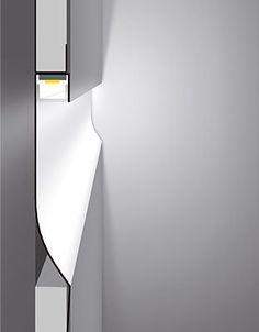 LED Profil für Gipskarton R Version 2m zur indirekten Led Beleuchtung: Amazon.de: Beleuchtung