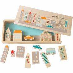 DwellStudio Creative Play Set Skyline New York City Plywood Wooden Blocks Wooden Playset, Montessori Toys, Creative Play, Wooden Blocks, Wood Toys, Gifts For Boys, Educational Toys, Baby Toys, Kids Playing