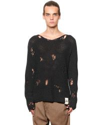 Vivienne westwood Oversized Destroyed Cotton Sweater in Blue for Men (MIDNIGHT BLUE) | Lyst