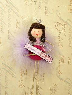 Life begins at forty birthday girl doll by sugarcookiedolls