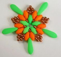 neon superduo beads   Deb Roberti's FREE Starburst pattern done in Neon.
