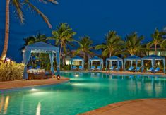 A view of the swimming pool at night is just as stunning as the star-studded sky. Sandals Emerald Bay - Bahamas - Exumas - All Inclusive - Destination Wedding - Honeymoon - Montego Bay - travel - Caribbean - passports - engaged Bahamas Honeymoon, Bahamas Vacation, Nassau Bahamas, All Inclusive Destination Weddings, All Inclusive Vacations, Caribbean Vacations, Caribbean Beach Resort, Beach Resorts, Emerald Bay Bahamas