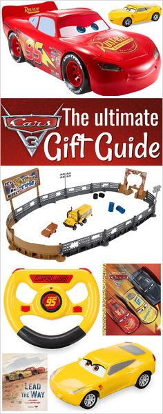 The best Cars 3 toys and books, products from the Cars 3 gift guide! | Diecast cars | Hot Wheels | Cruz Ramirez | awesome